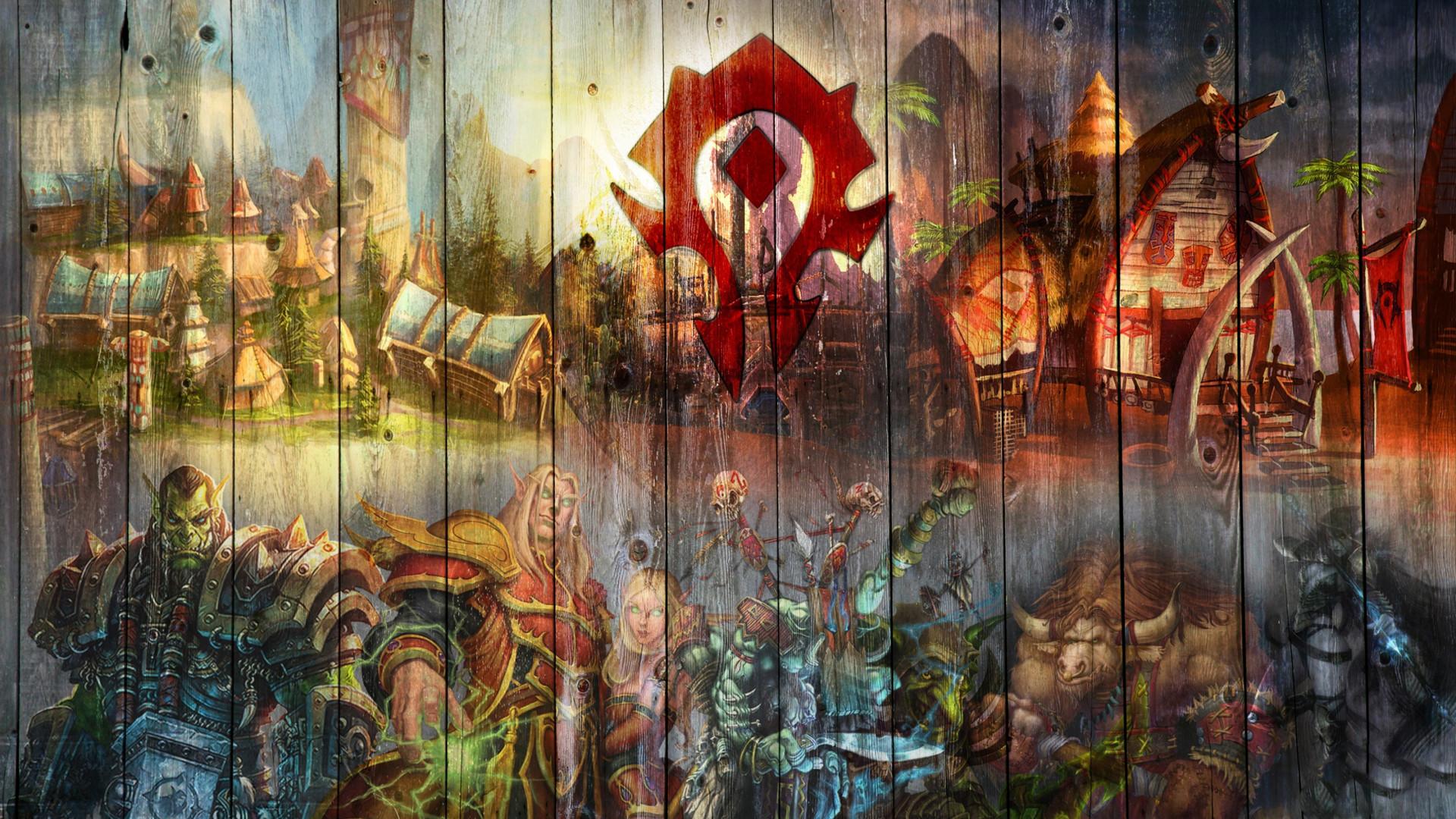 Wallpaper world of warcraft graffiti hero logo evil 1920×1080