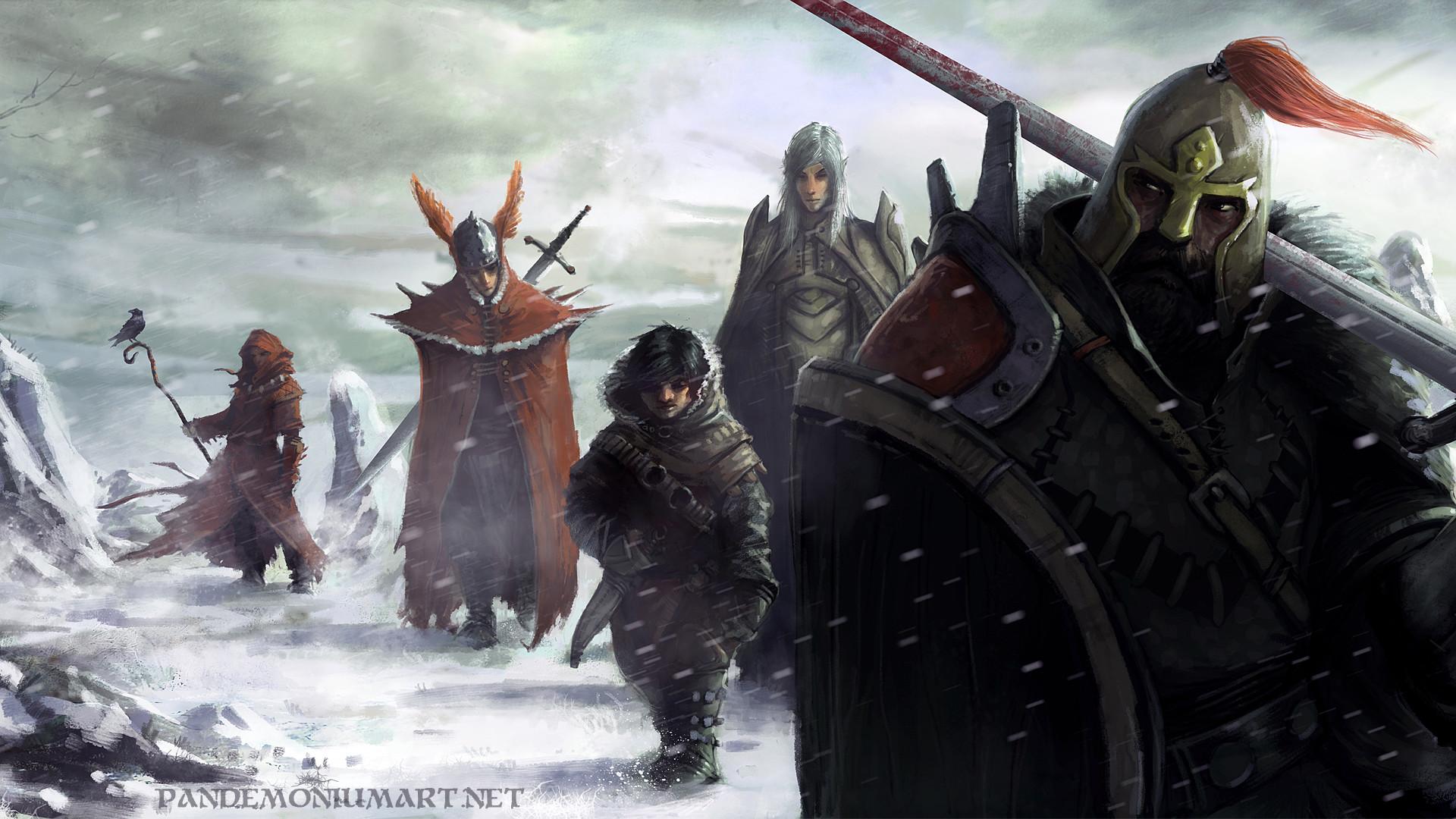 Fantasy – Dungeons & Dragons Elf Warrior Snow Halfling Wallpaper