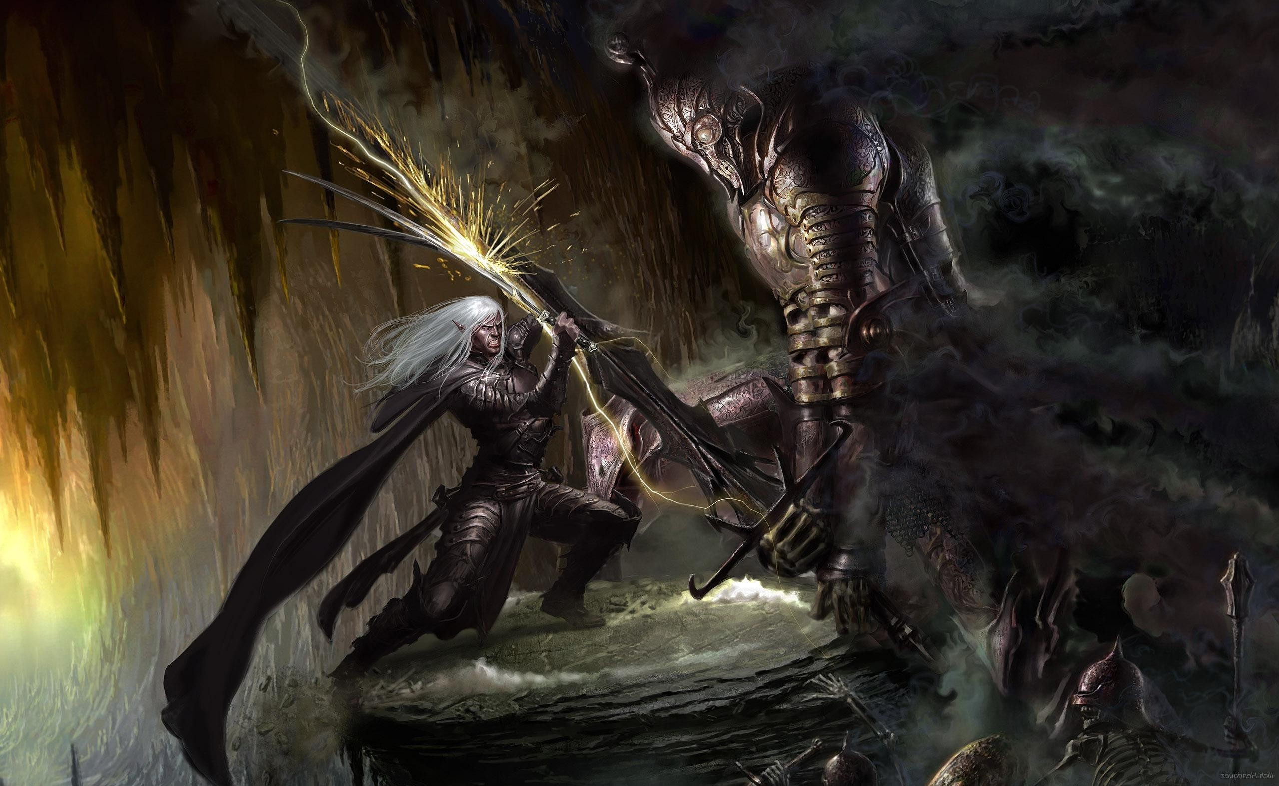 fantasy Art, Artwork, Drizzt DoUrden, Dungeons And Dragons Wallpapers HD /  Desktop and Mobile Backgrounds