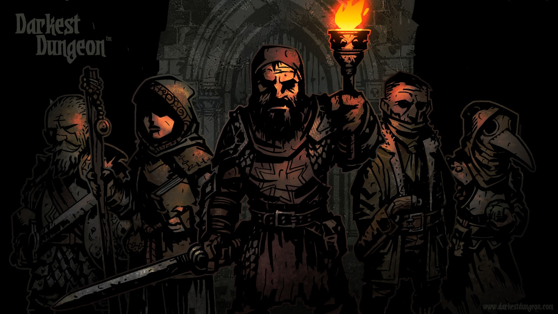 Preview wallpaper darkest dungeon, characters, 2016, red hook studios  1920×1080