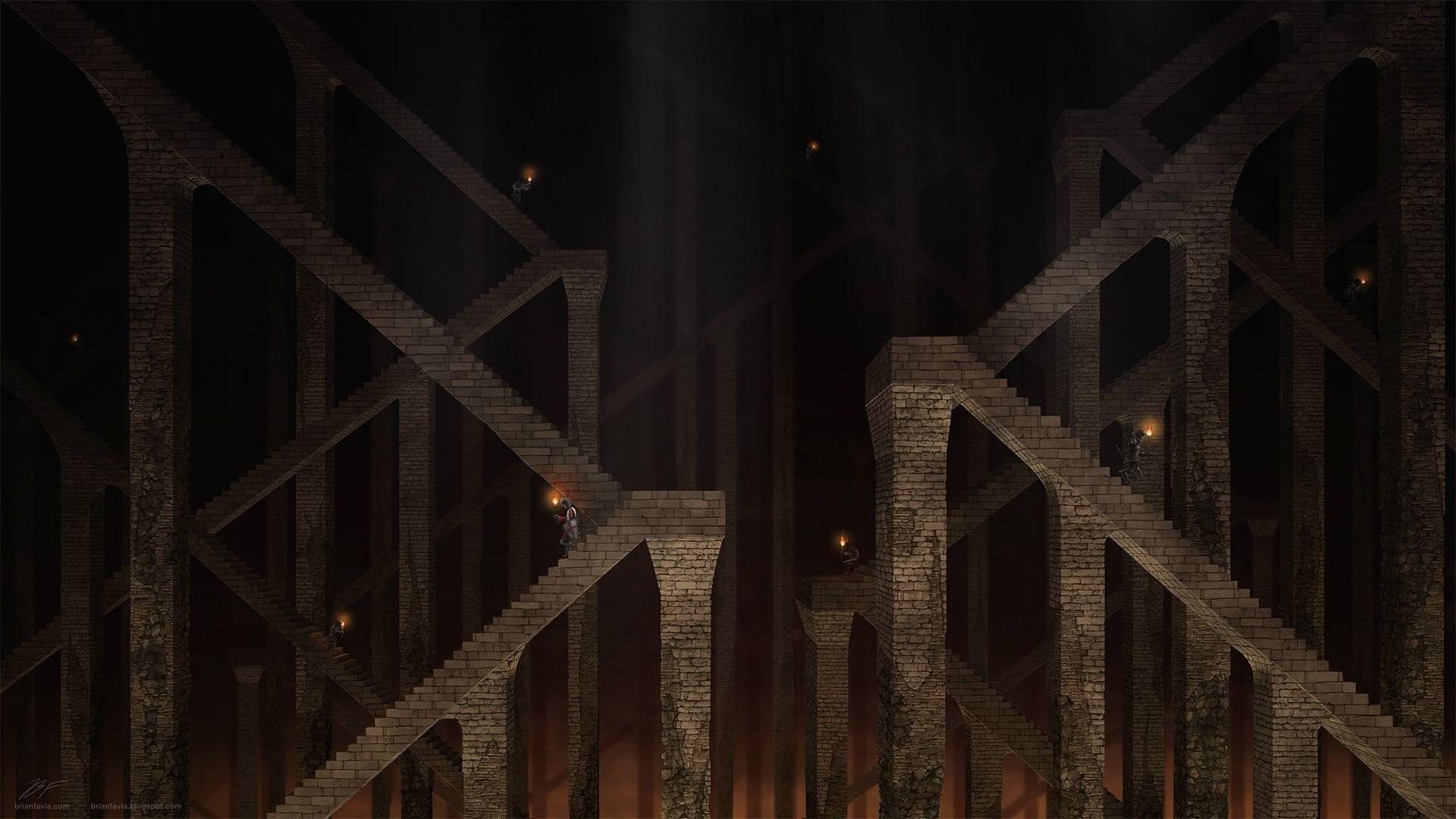 Underground Dwarfs Stairs Dungeons And Dragons