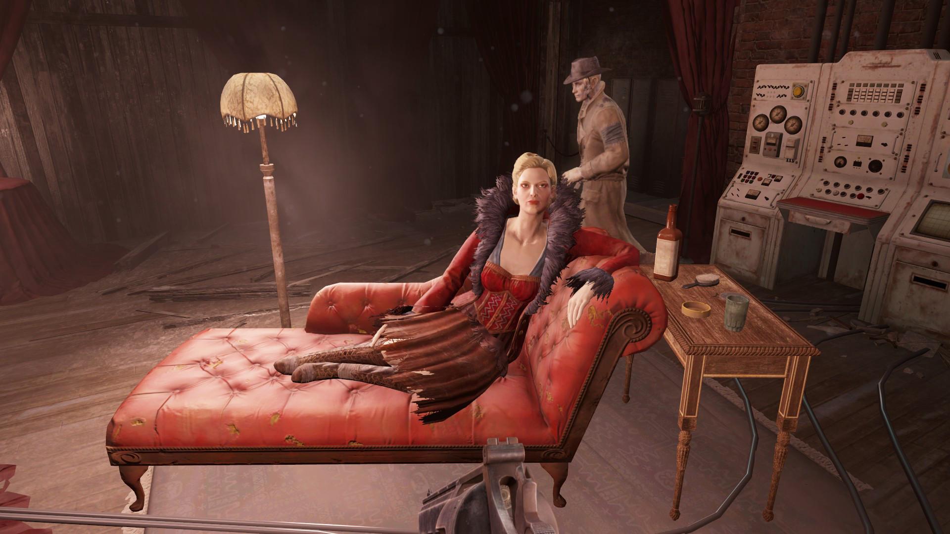 Fallout 4 HD Wallpaper Sexy Woman Creepy Dude