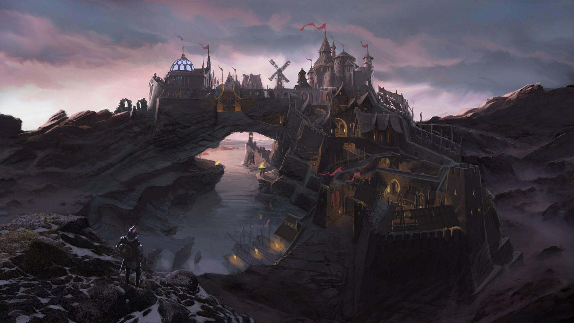 The Elder Scrolls V: Skyrim, City, Fantasy Art, Video Games Wallpapers HD /  Desktop and Mobile Backgrounds