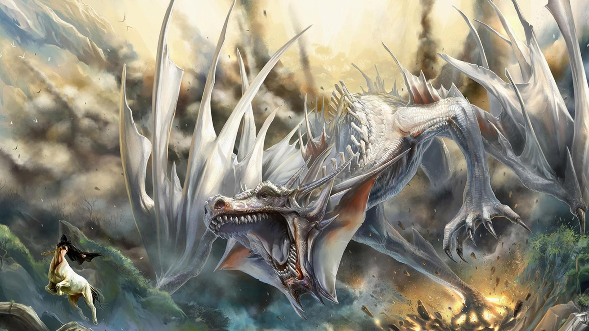 blue eyes white dragon background