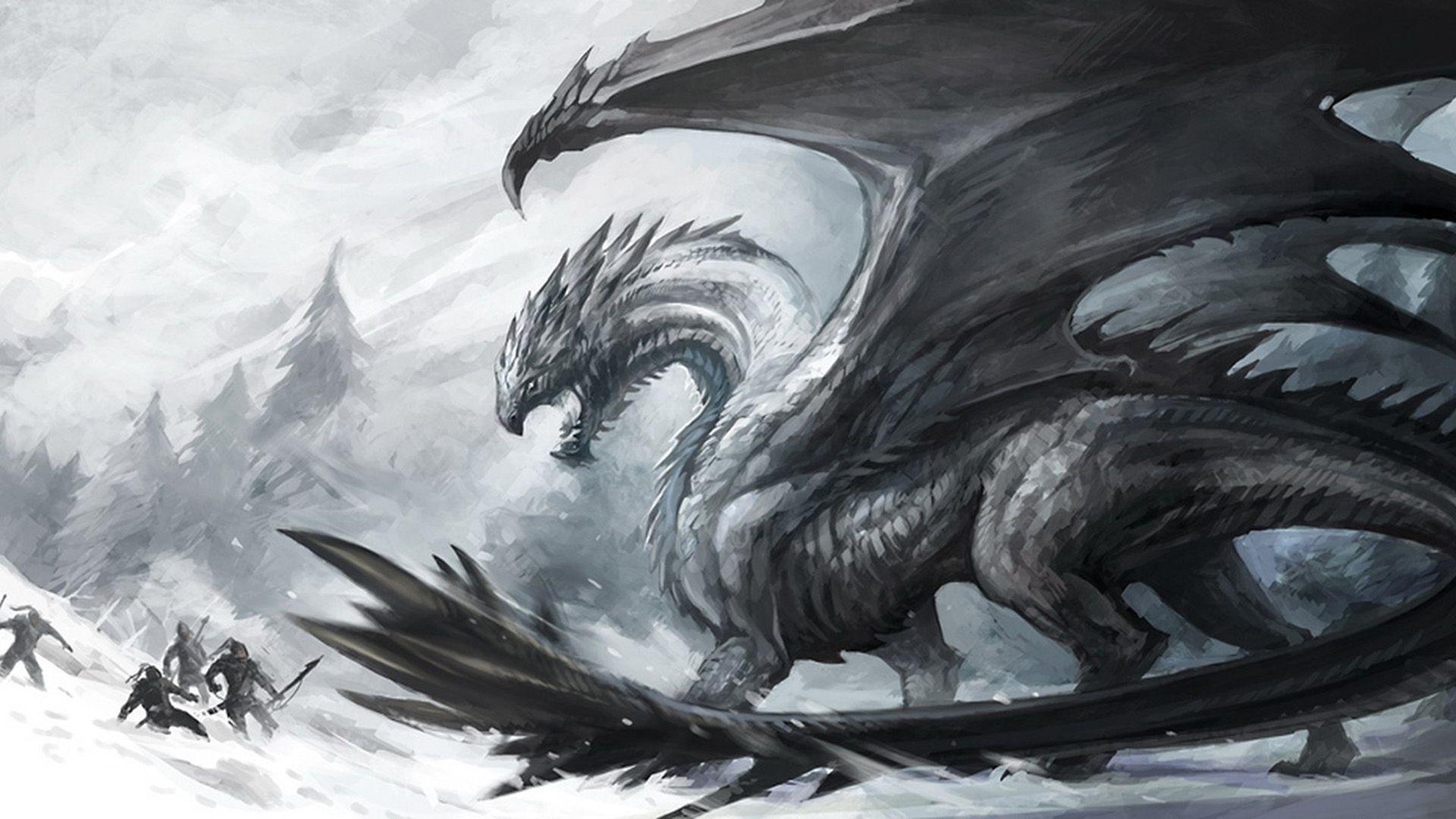 Wallpapers For > Fantasy White Dragon Wallpaper