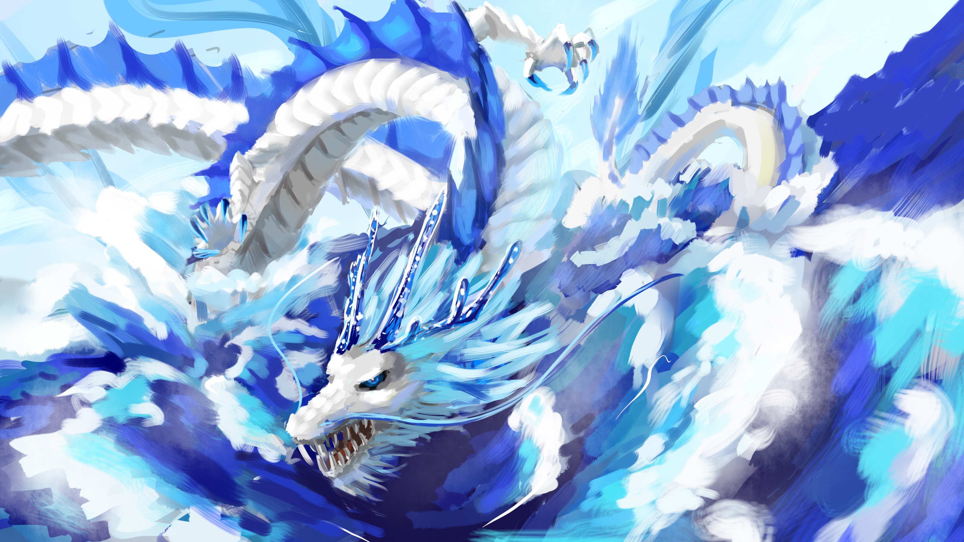 Blue Eyes White Dragon Wallpaper Images | TheCelebrityPix