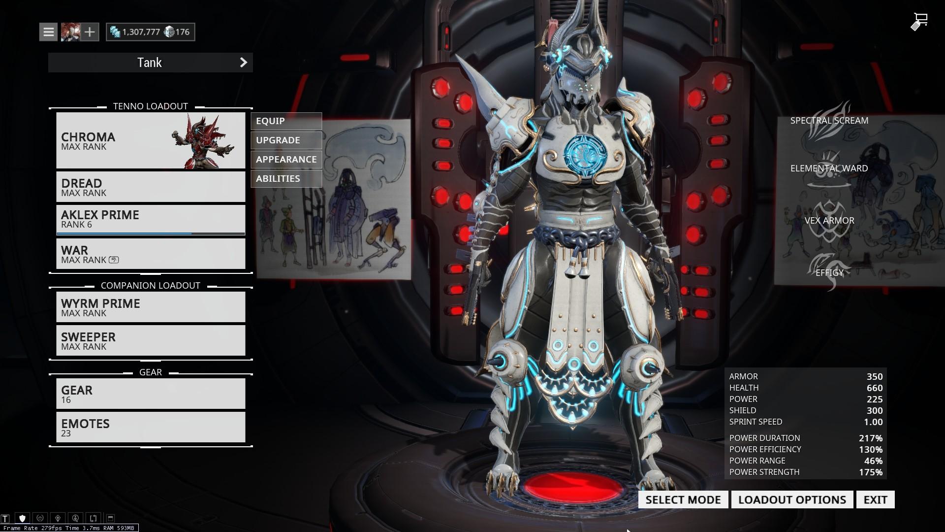 [Warframe][Outfit][Captura][Chroma] Blue Eyes White Dragon