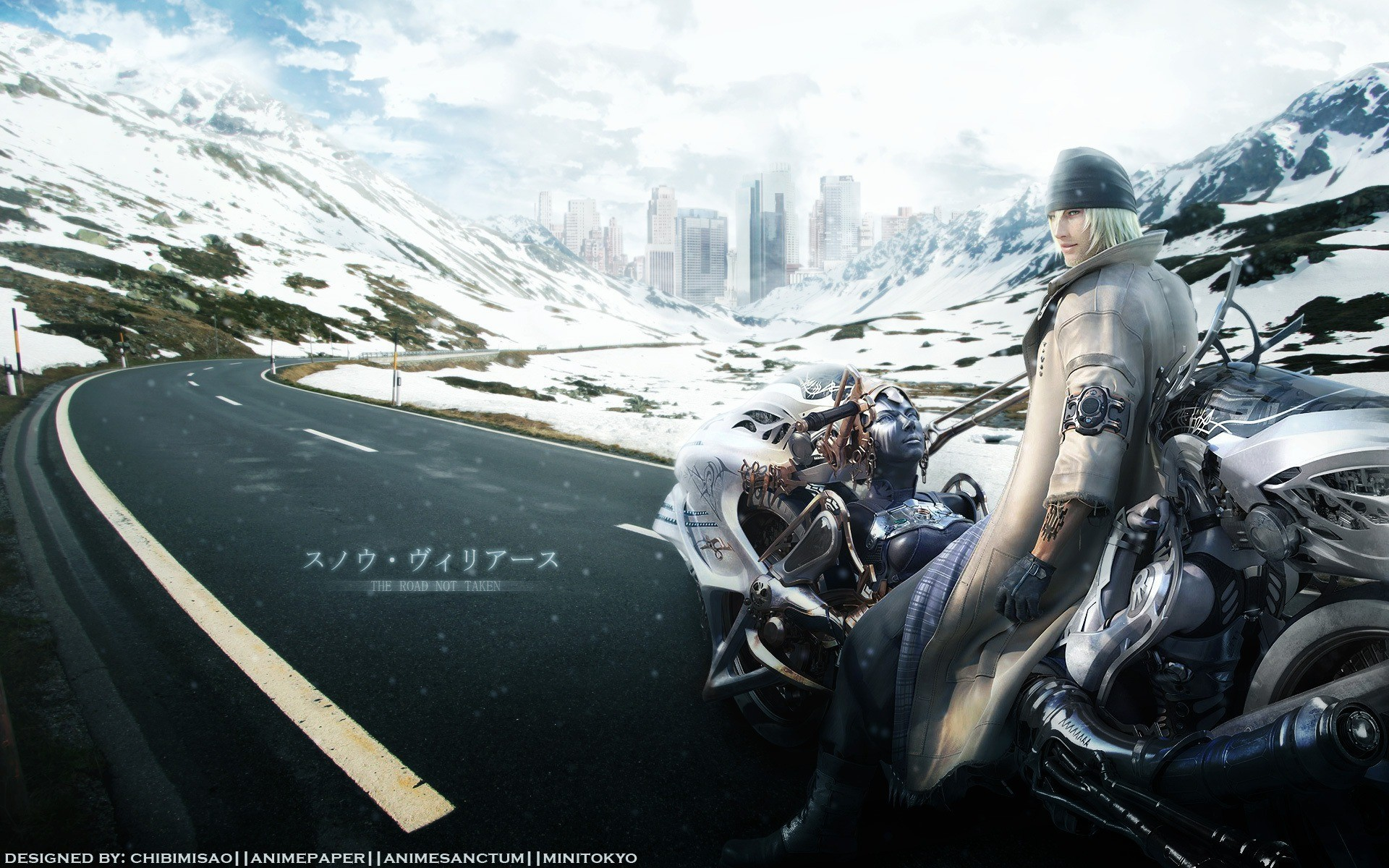 Motorcyclist in a role-playing game Final Fantasy VI
