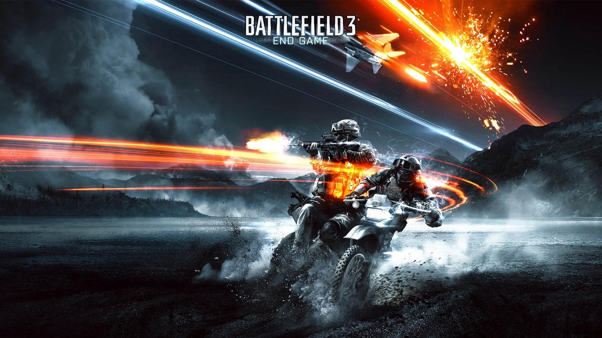 battlefield 3 motorcycle shooting poster
