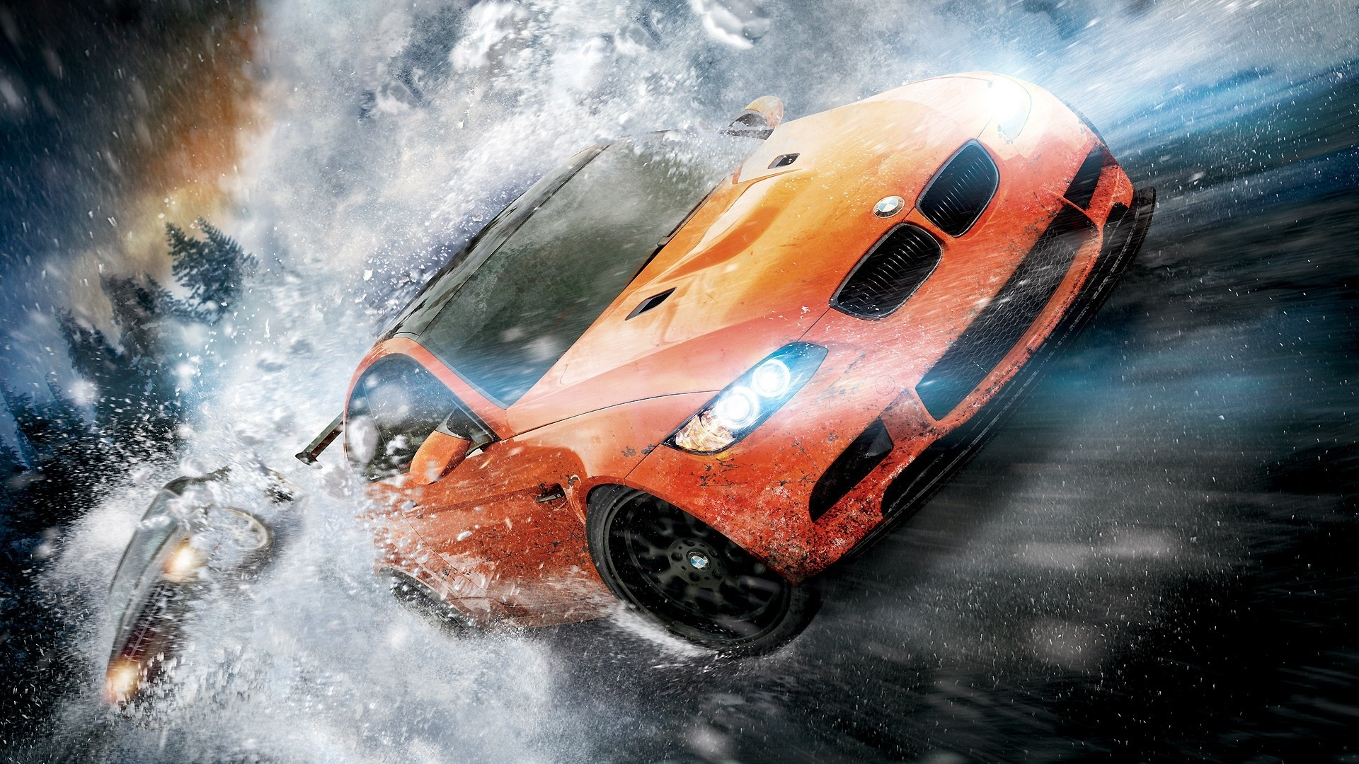 Wallpaper nfs, need for speed, bmw, snow, speed, road