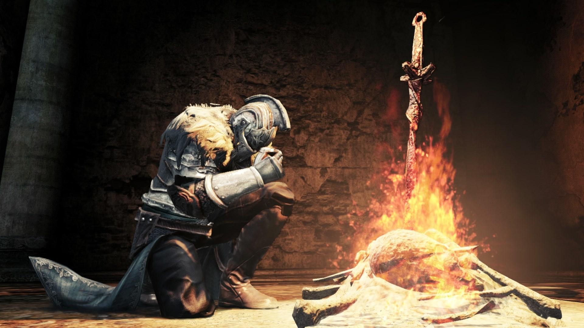 dark souls 2 bonfire wallpaper hd