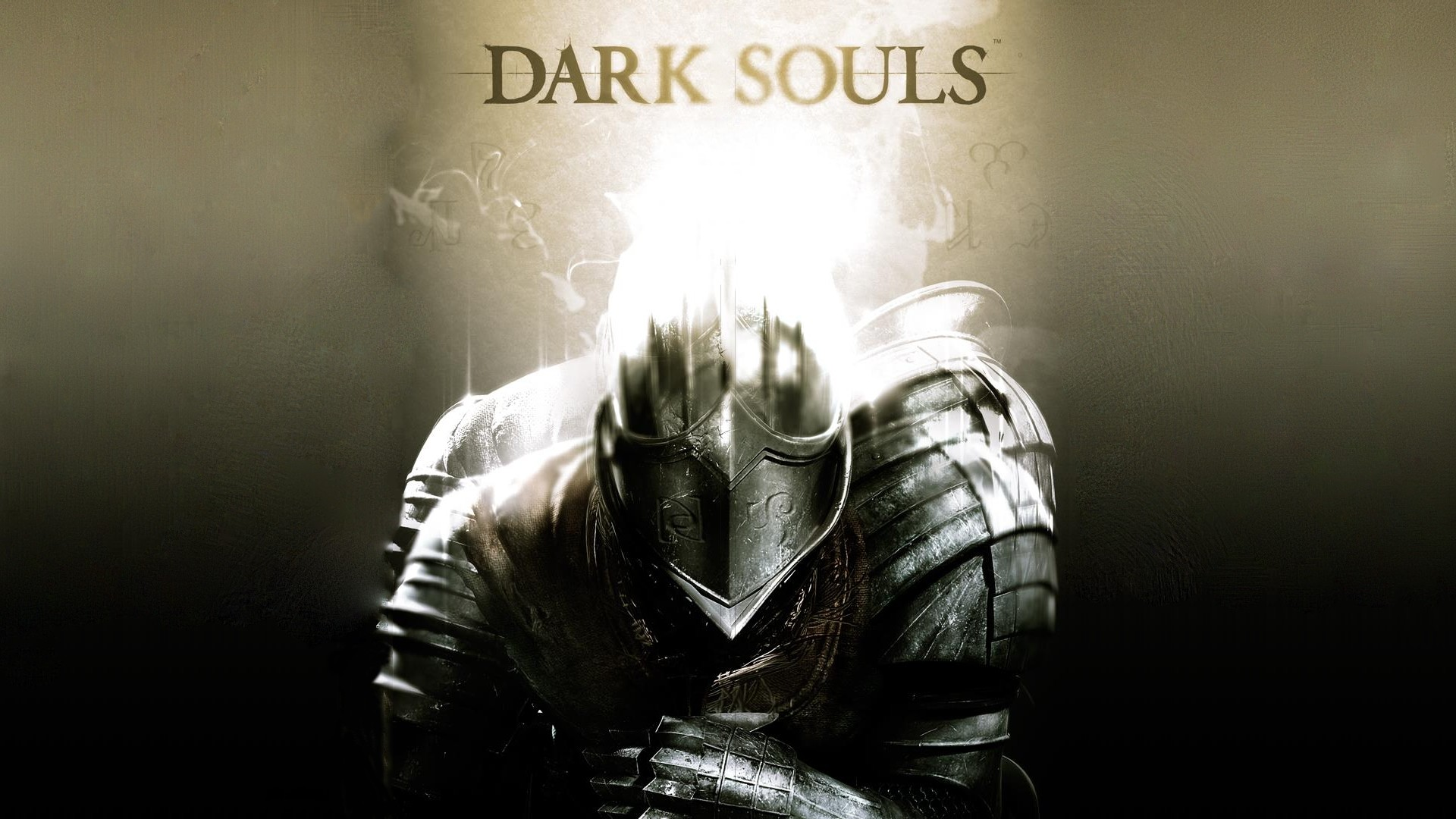 Preview wallpaper dark souls, armor, light, helmet 1920×1080