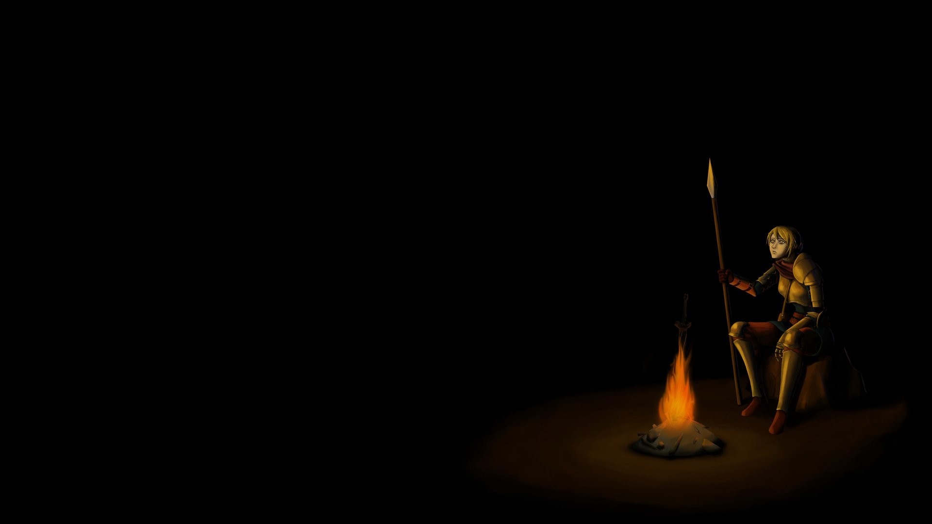 dark souls bonfire wallpaper 1920×1080