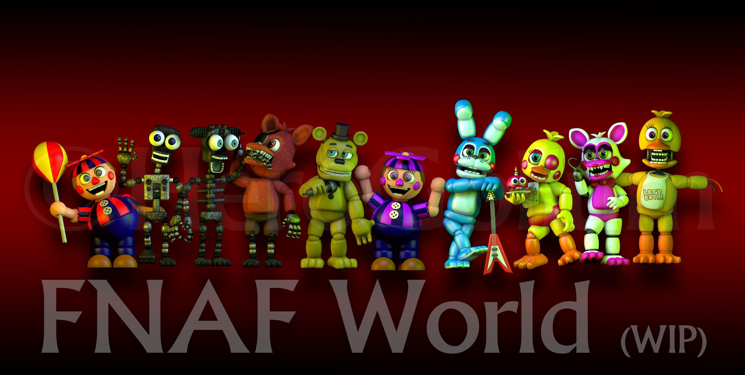 FNAF World Art! by HeroGollum on DeviantArt