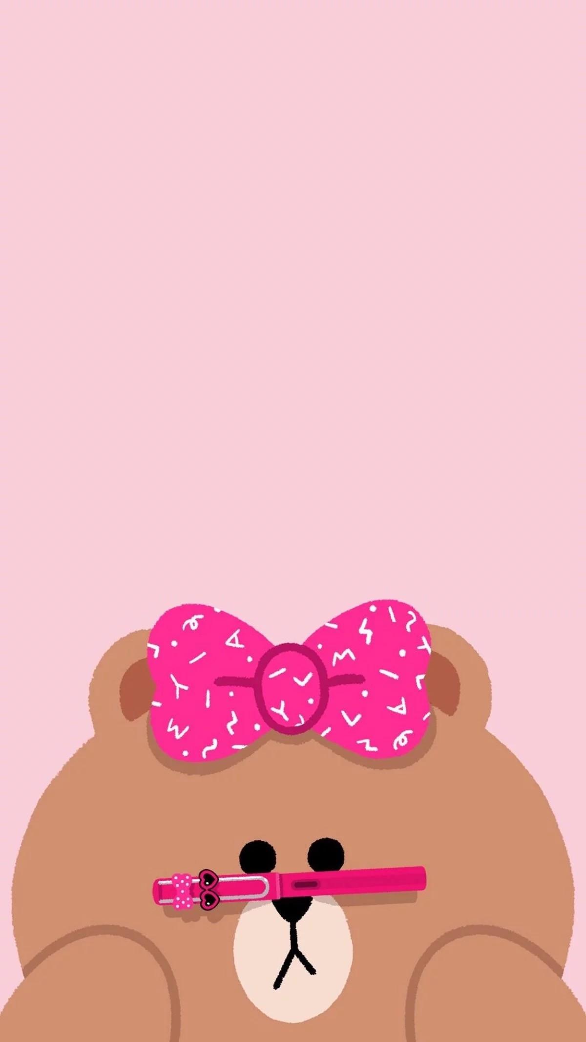 Pinkie Pie, Rilakkuma, Cartoon, Screen, Crafts, Funds. Wallpaper iPhone ⚪