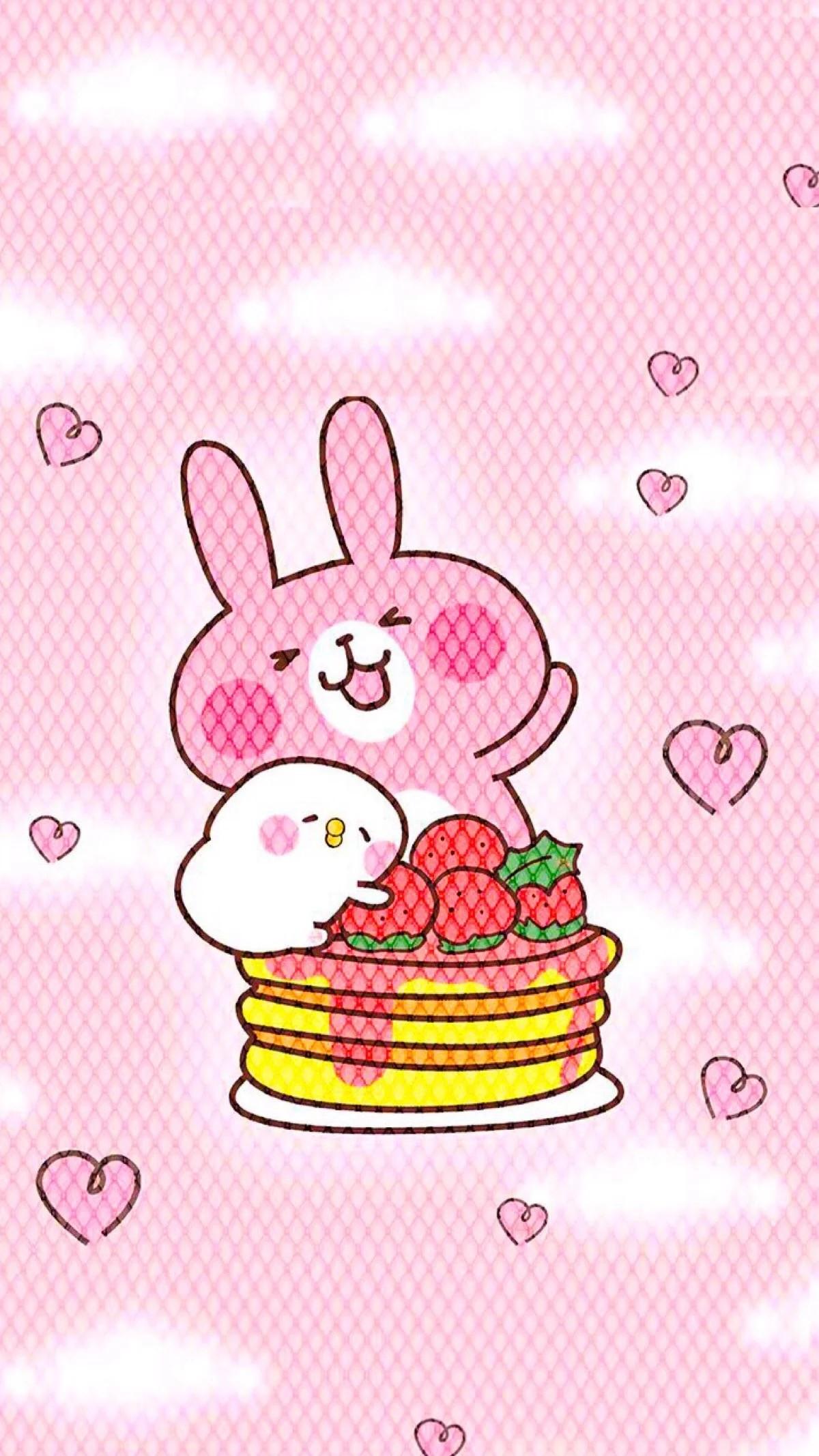 Cute Cartoon, Rilakkuma, Random Acts, Iphone Wallpaper, Rabbit, Kawaii