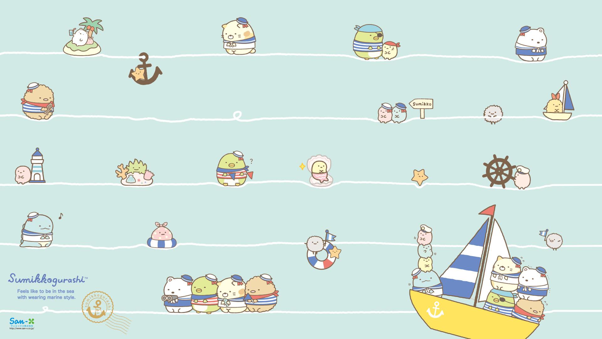 Sumikkogurashi Marine Series Wallpaper