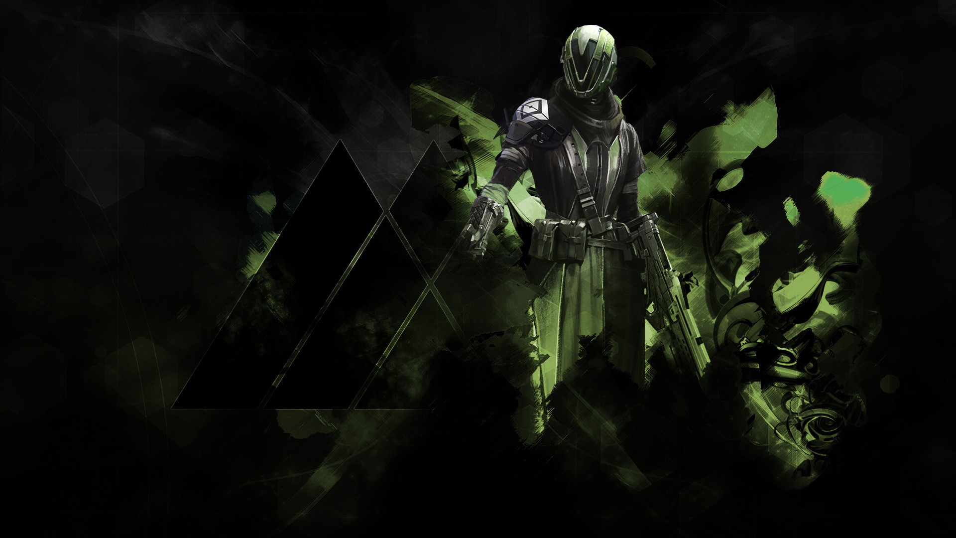 Warlock Destiny Guardian class character game. HD 1080p and .