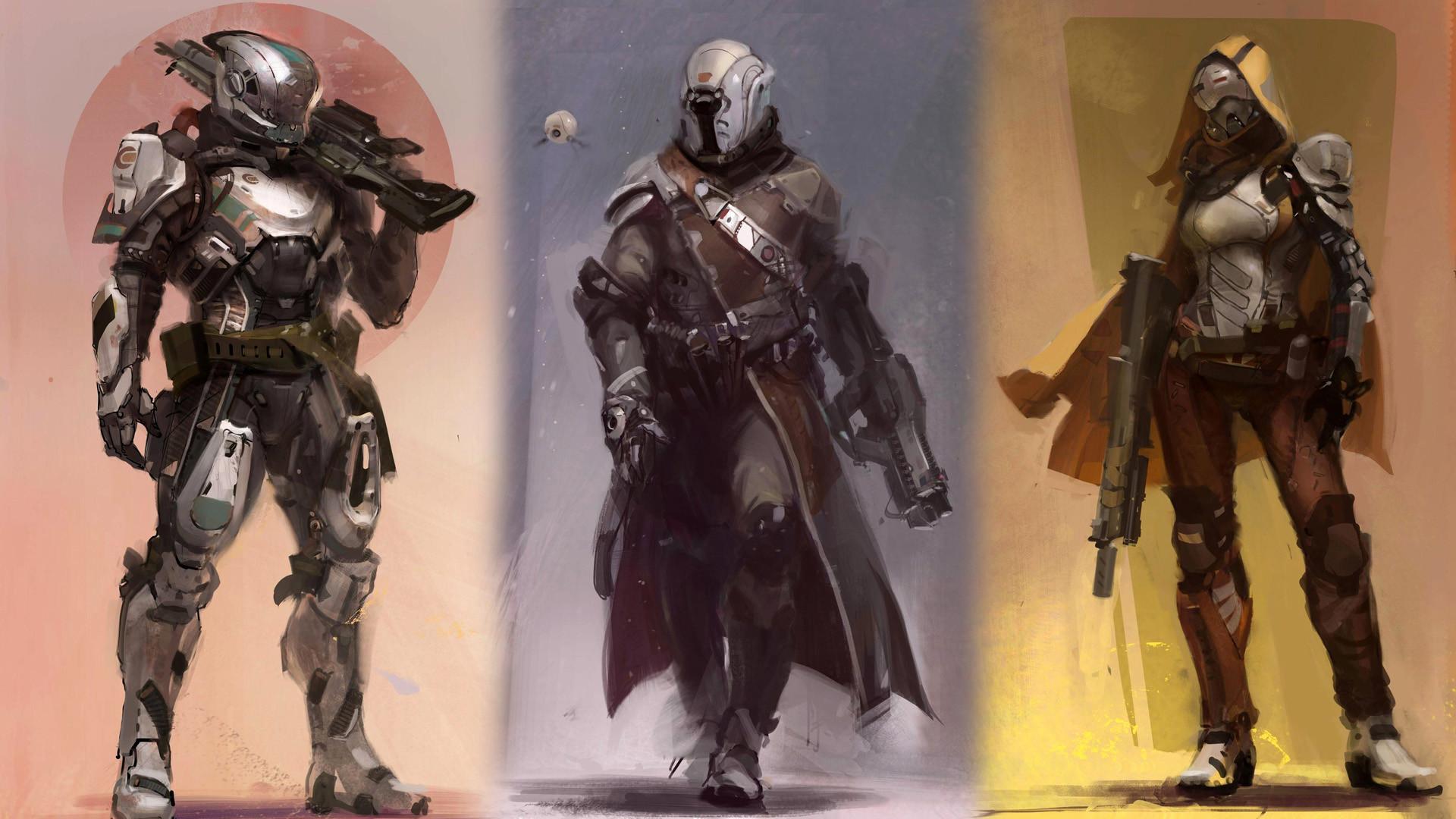 Hunter-Warlock-and-Titan-on-Destiny-Video-Game-