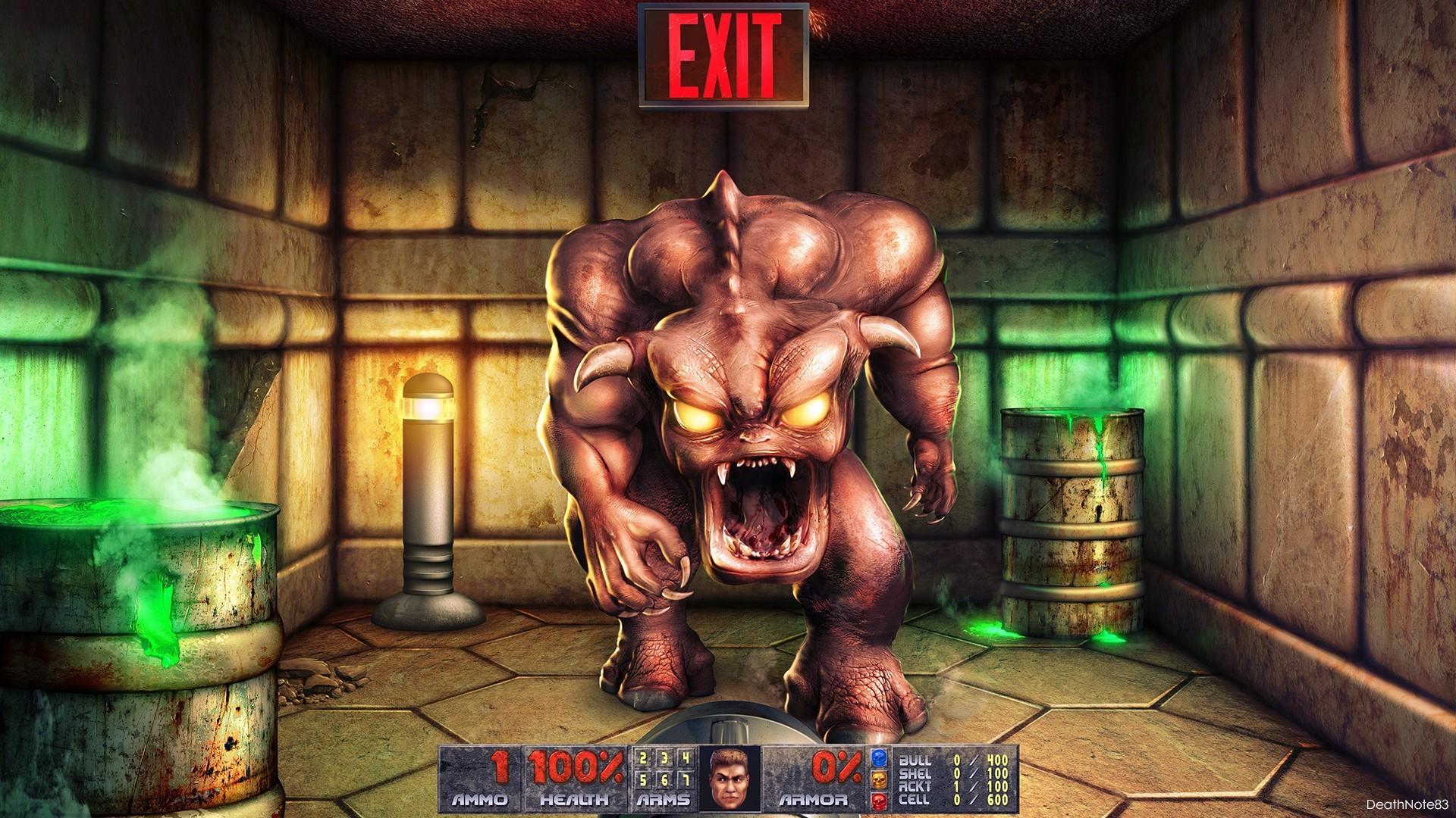 Doom fantasy art retro games game FPP wallpaper | | 205412 |  WallpaperUP