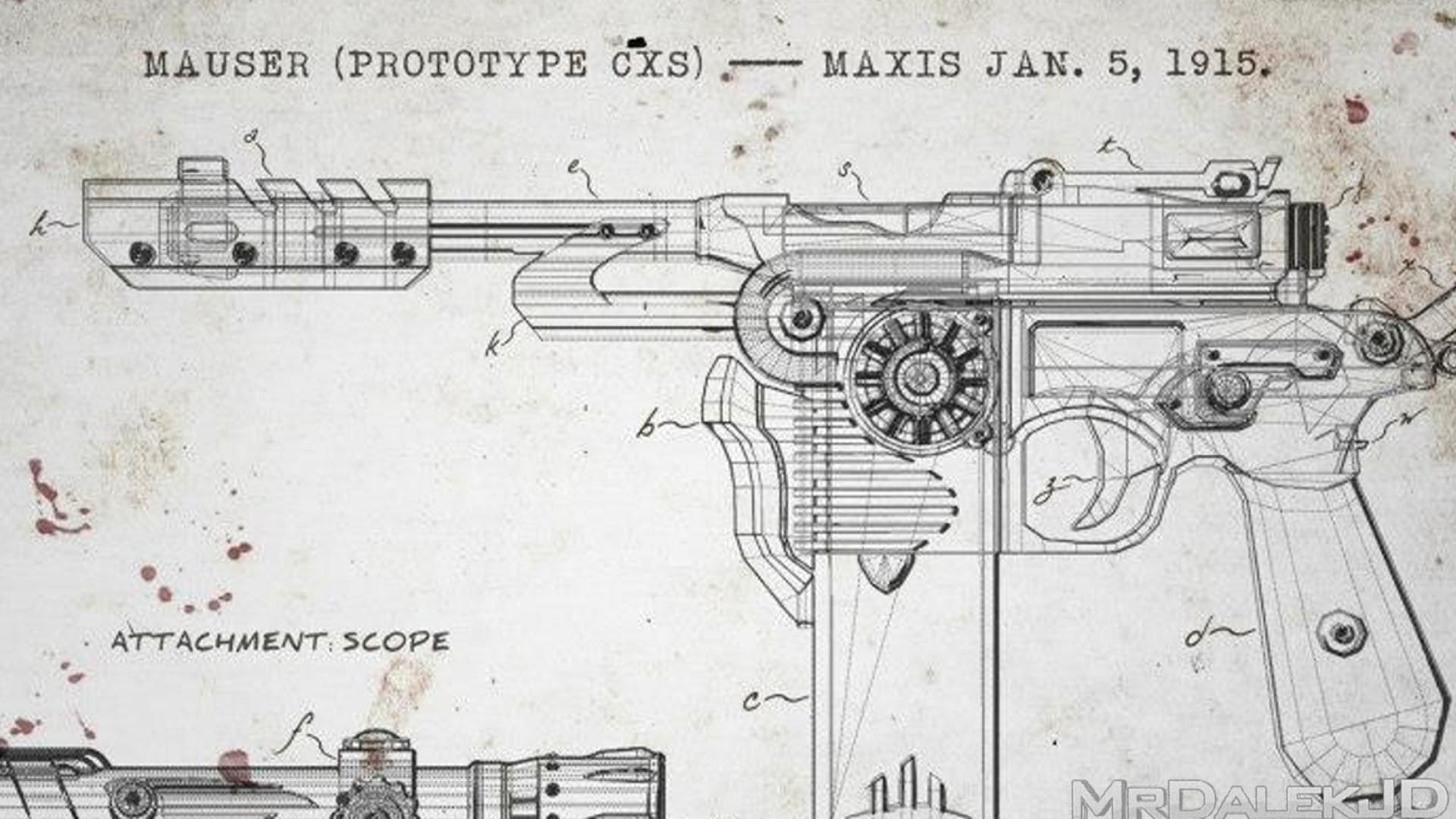 "Black Ops 2 Zombies – ""ORIGINS"" Map Pack 4 Gun! ""Mauser Prototype CXS""  Starting Pistol – YouTube"