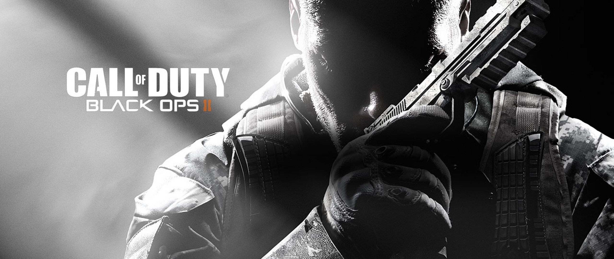 Preview wallpaper call of duty, black ops 2, soldiers, weapons, shooter  2560×1080