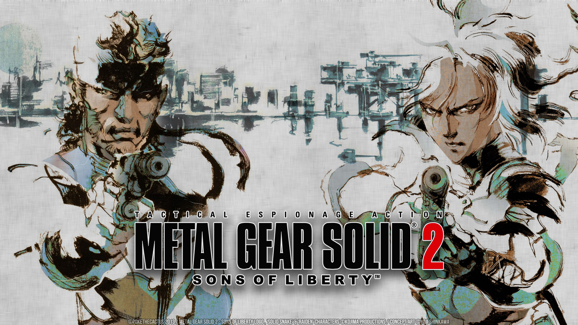 Wallpaper metal gear solid 2 sons of liberty, metal gear solid,  stealth-