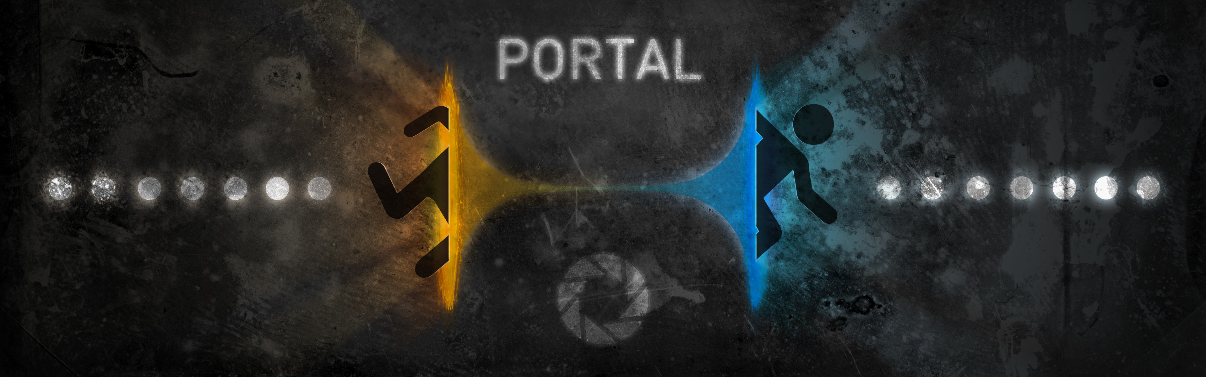 wallpapers, I thought I could create a Portal wallpaper for this .