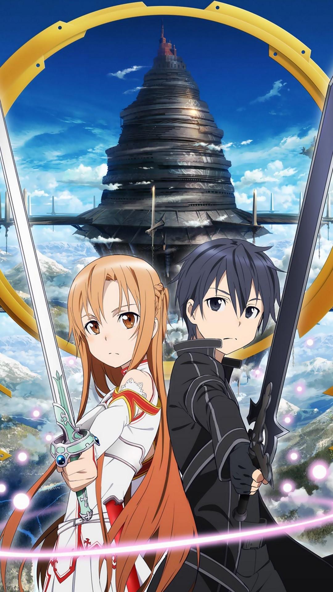 Sword Art Online 2 Kirito Asuna.Sony Xperia Z wallpaper 1080×1920