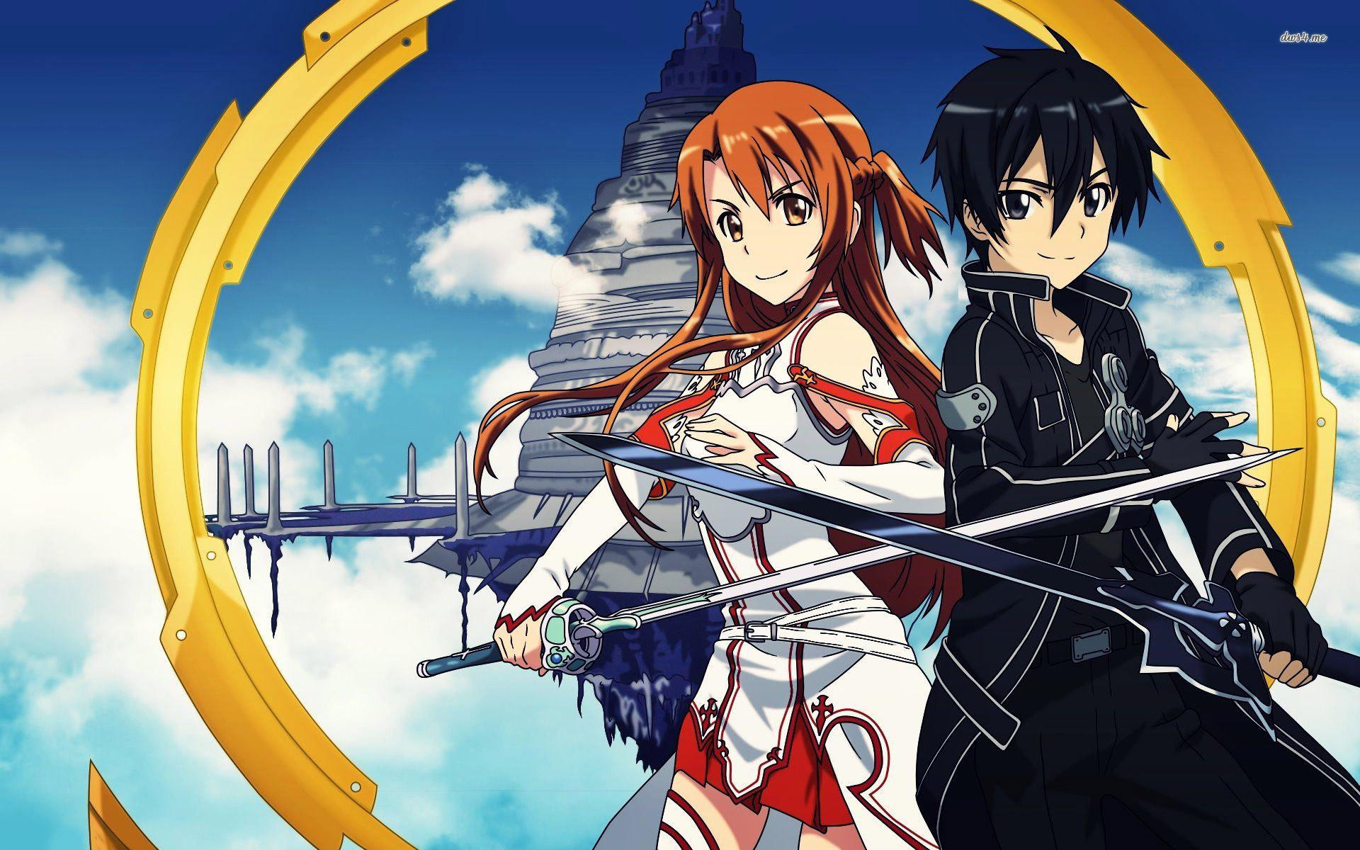 Asuna and Kirito – Sword Art Online wallpaper 1920×1200
