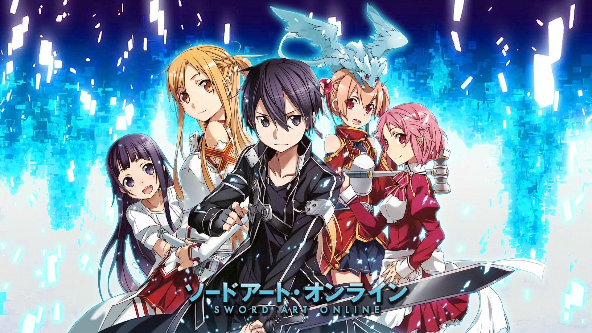Sword Art Online Yui Asuna Kirito Silica, Pina and Lisbeth Wallpaper