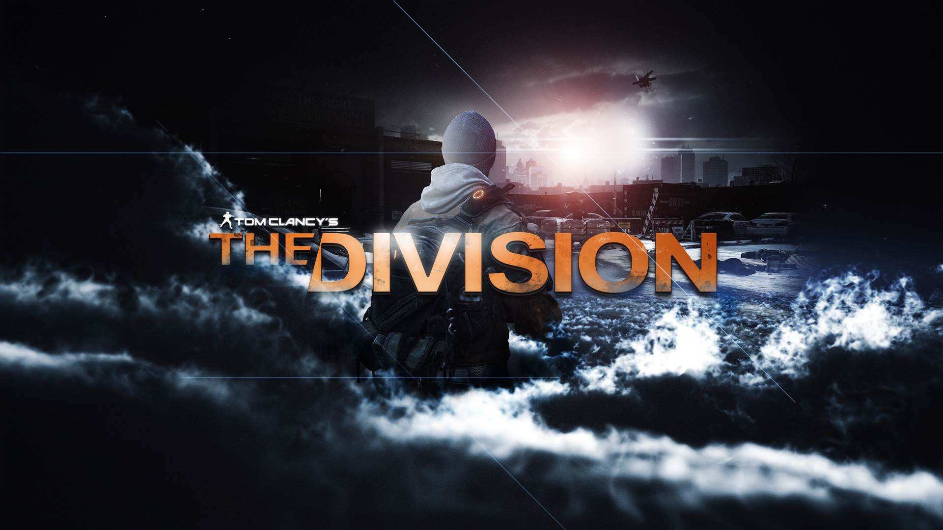 Tom Clancy's The division: hero watching the city