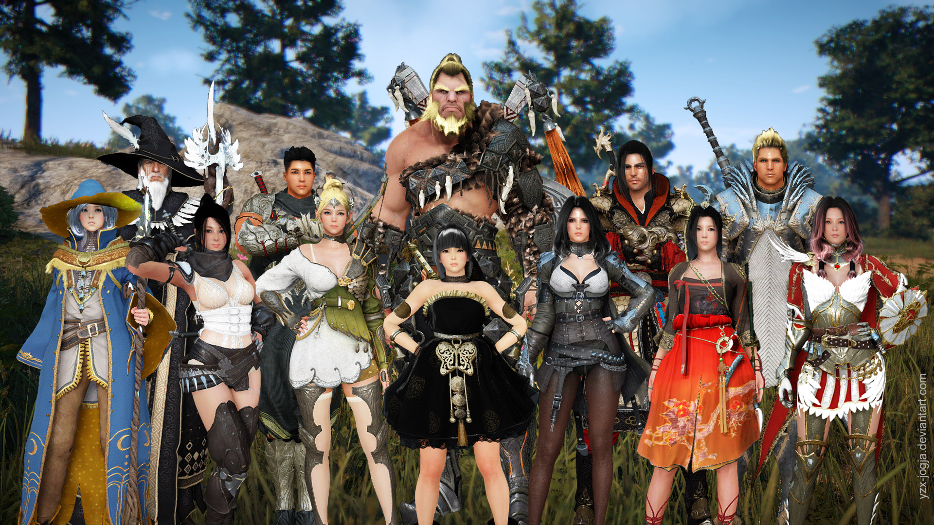 … Black Desert characters all jammed in one picture by YZX-jogja