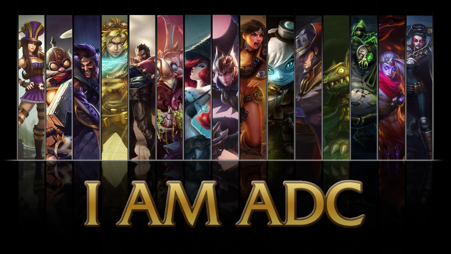 … NibblesMeKibbles League of Legends I AM ADC wallpaper by  NibblesMeKibbles