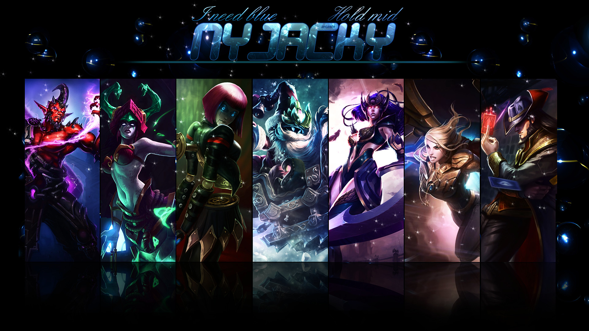 … Wallpaper ~ Nyjacky ~ League of Legends by Arcaste