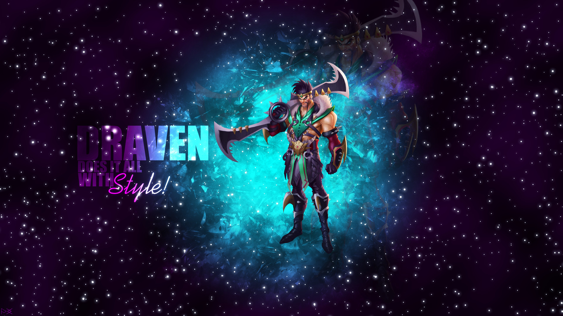 General Draven ADC Marksman League of Legends stars galaxy