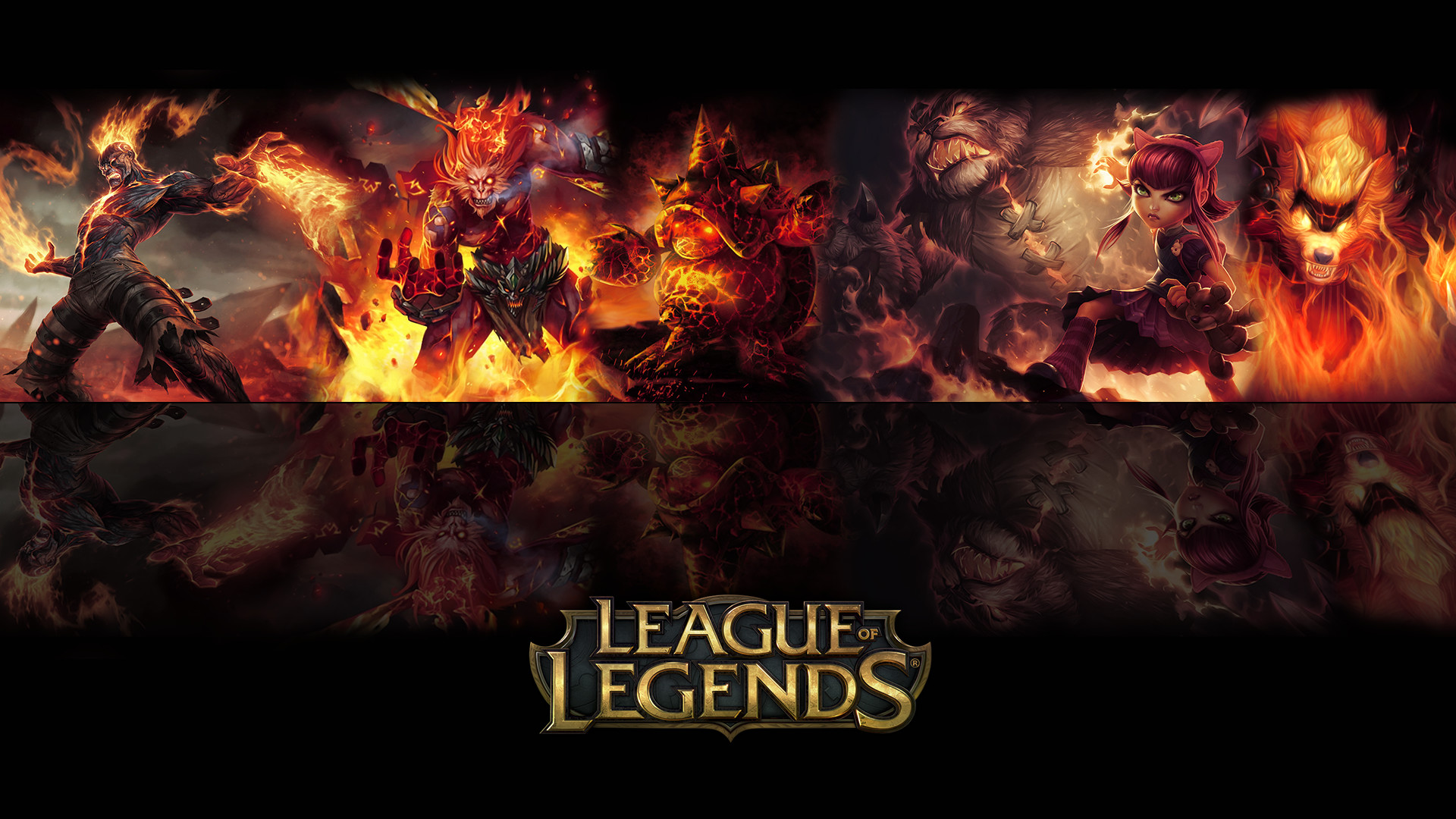 … League of legends Fire Wallpaper by ViciousBlue