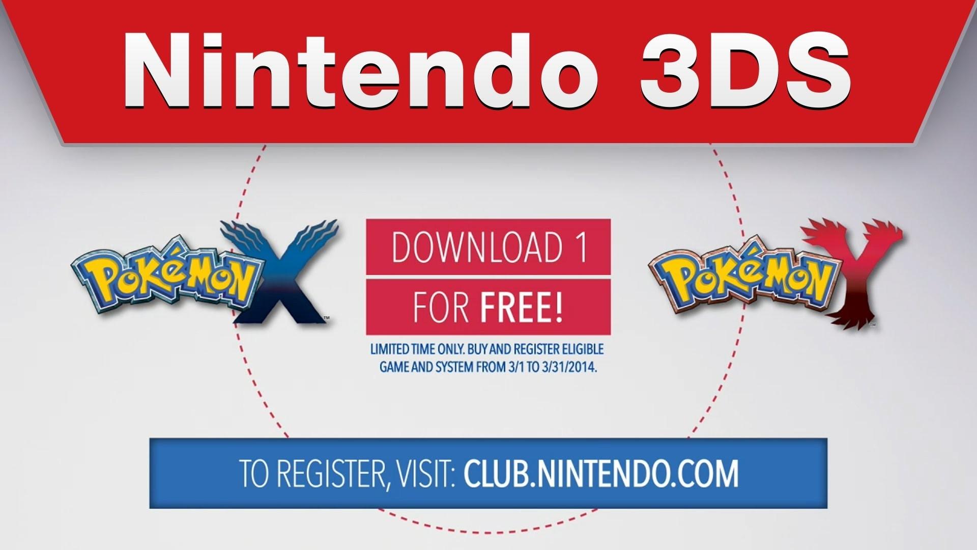 Nintendo 3DS РFree Pok̩mon X / Pok̩mon Y Digital Download Offer (US/CAN) Р YouTube