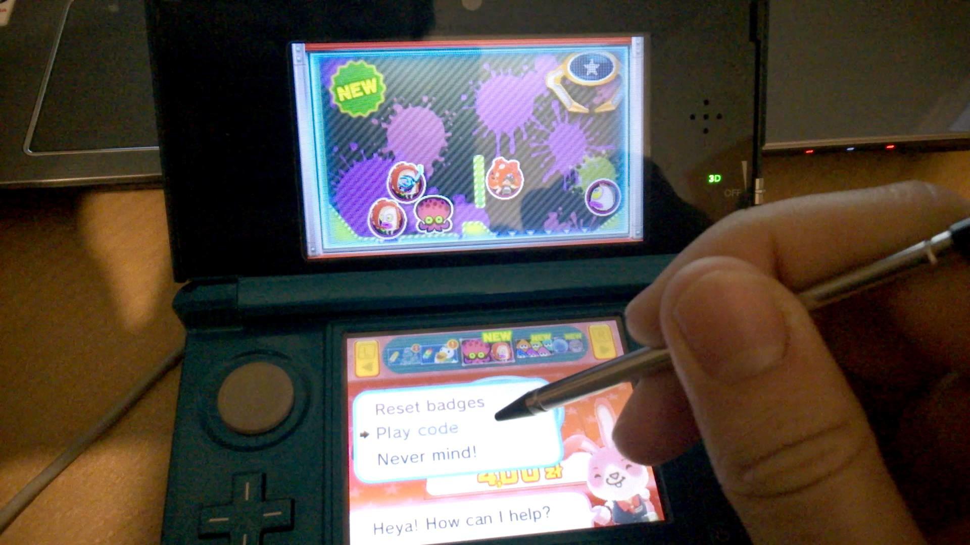 Inserting free code for Nintendo Badge Arcade