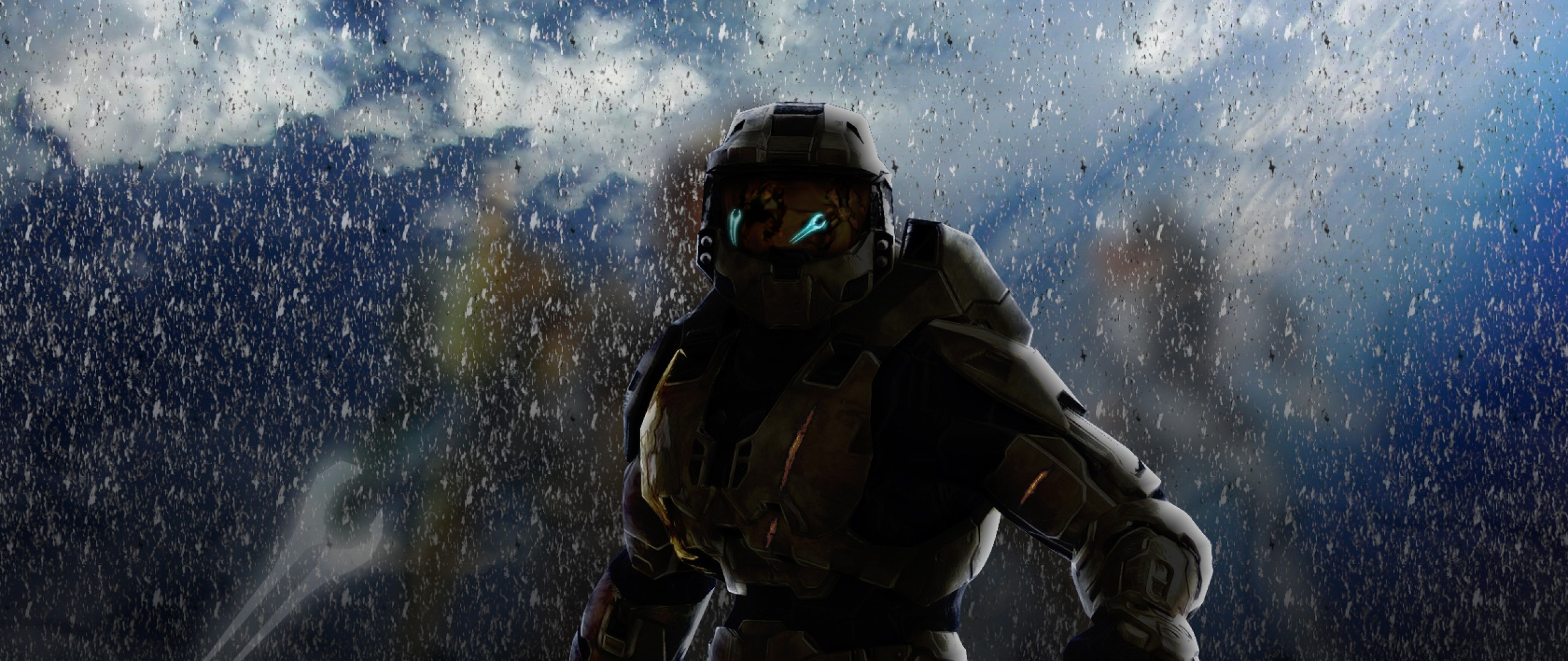 Preview wallpaper halo, soldier, armor, look 2560×1080