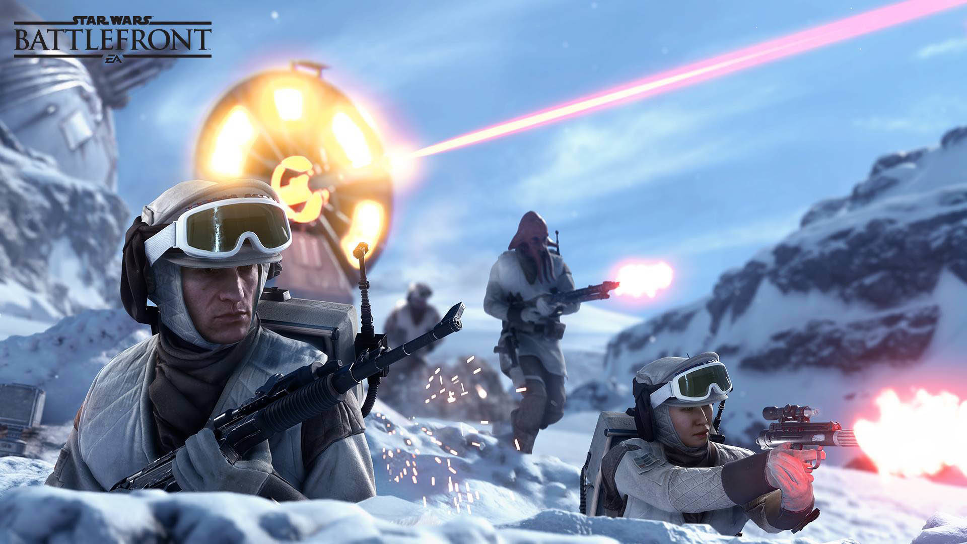 Rebel Soldiers defending – Star Wars Battlefront wallpaper