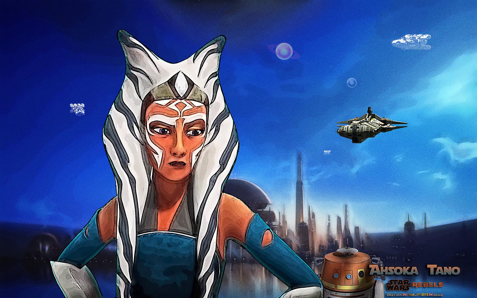 … STAR WARS REBELS FANART: AHSOKA TANO and CHOPPER by CSuk-1T