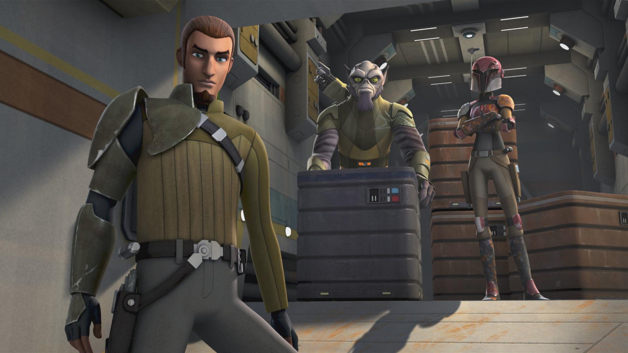 TV Show – Star Wars Rebels Zeb Orrelios Kanan Jarrus Sabine Wren Wallpaper