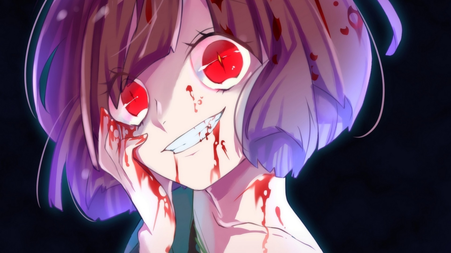 Undertale, Chara, Yandere, Creepy Smile, Anime Style