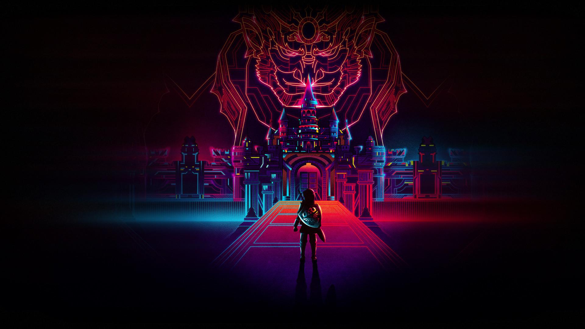 The Legend of Zelda, Retro, Neon art