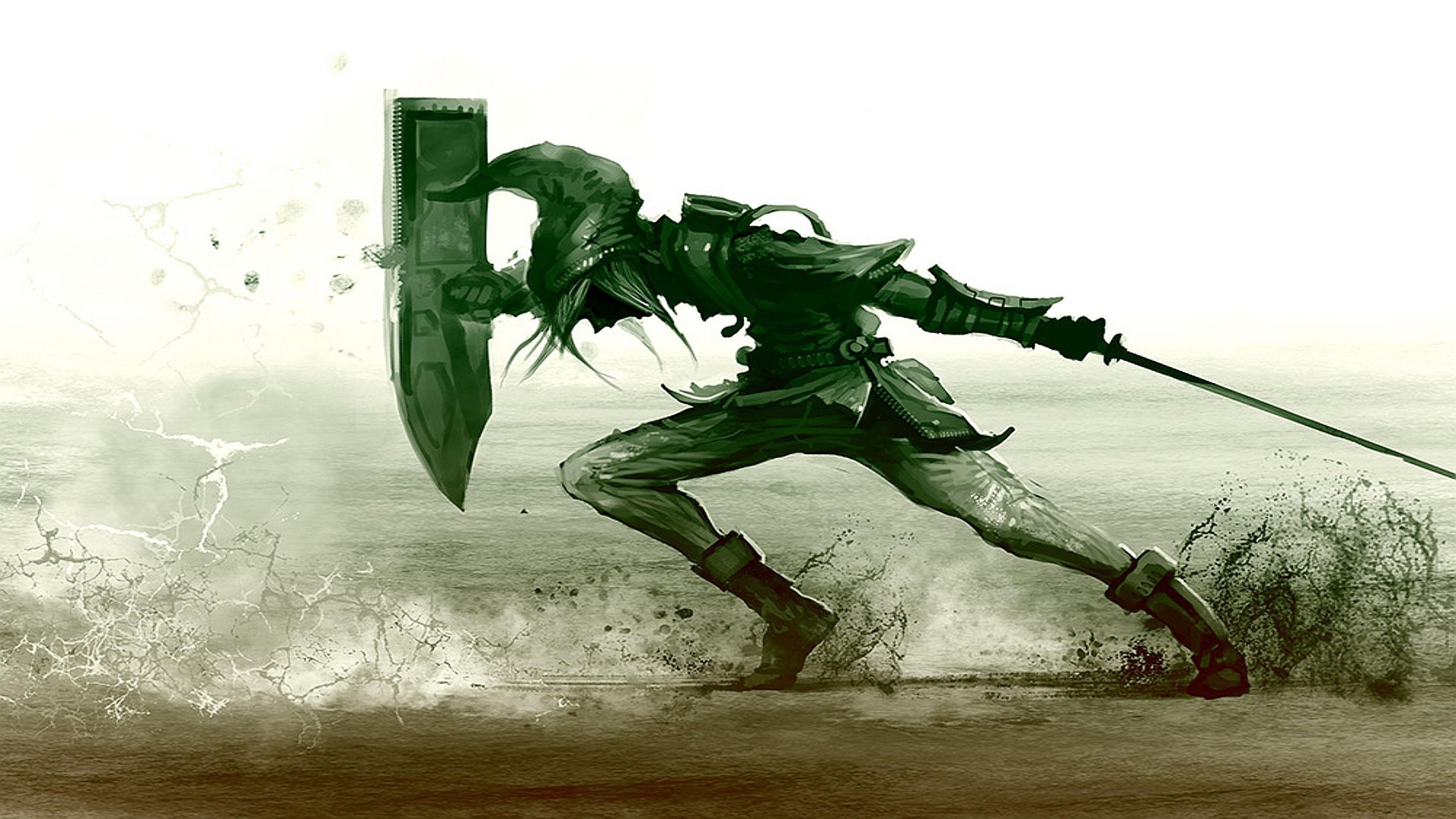 Wallpaper The legend of zelda, Shield, Sword, Sand, Link 4K .
