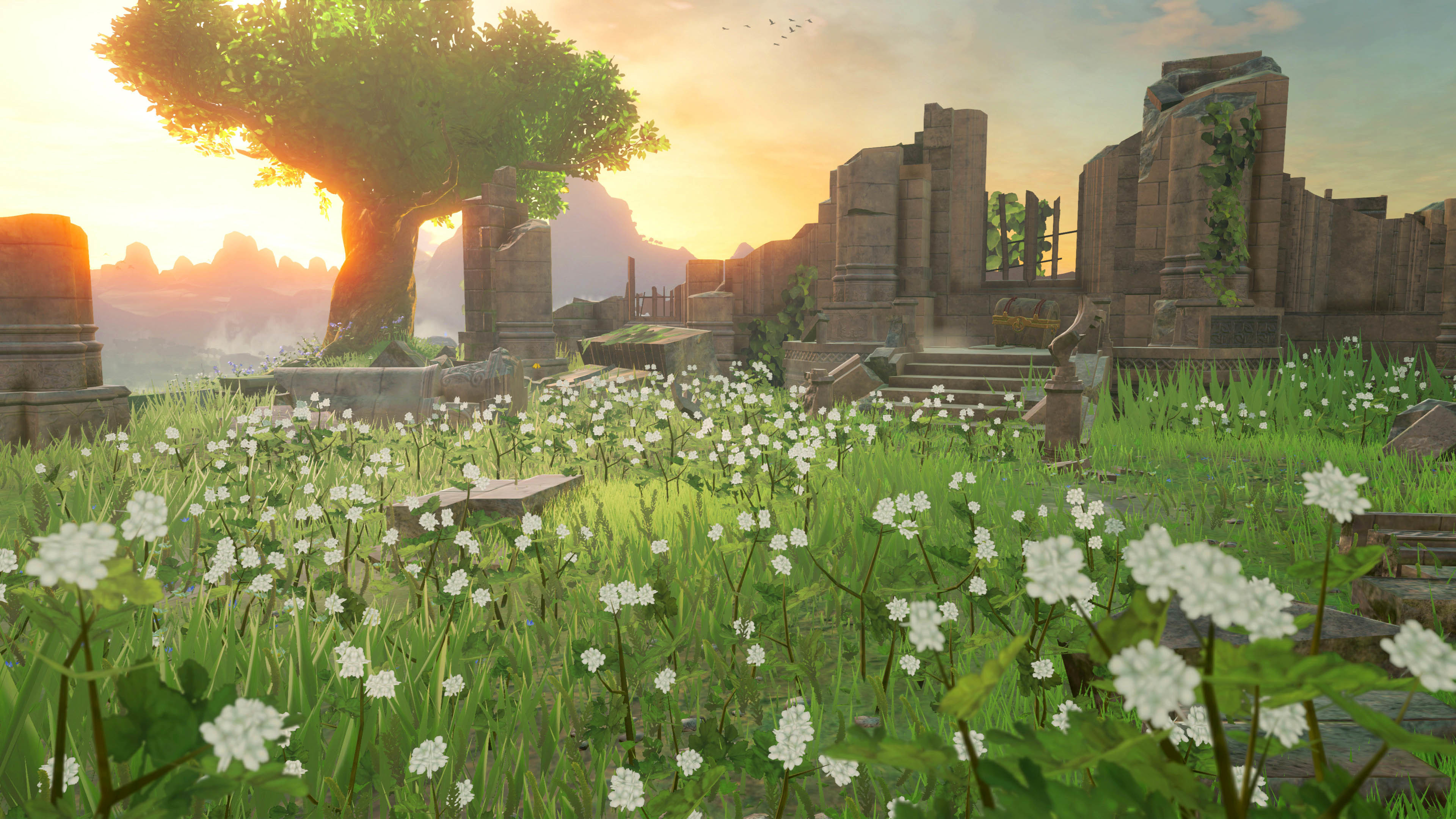 Flower Field & Ancient Ruins – The Legend of Zelda: Breath of the Wild  3840×2160