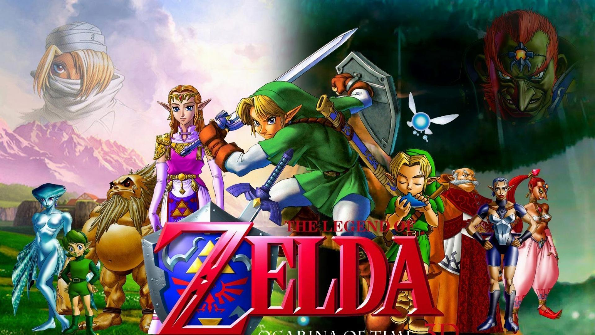The-legend-of-zelda-characters-faces-swords-wallpaper