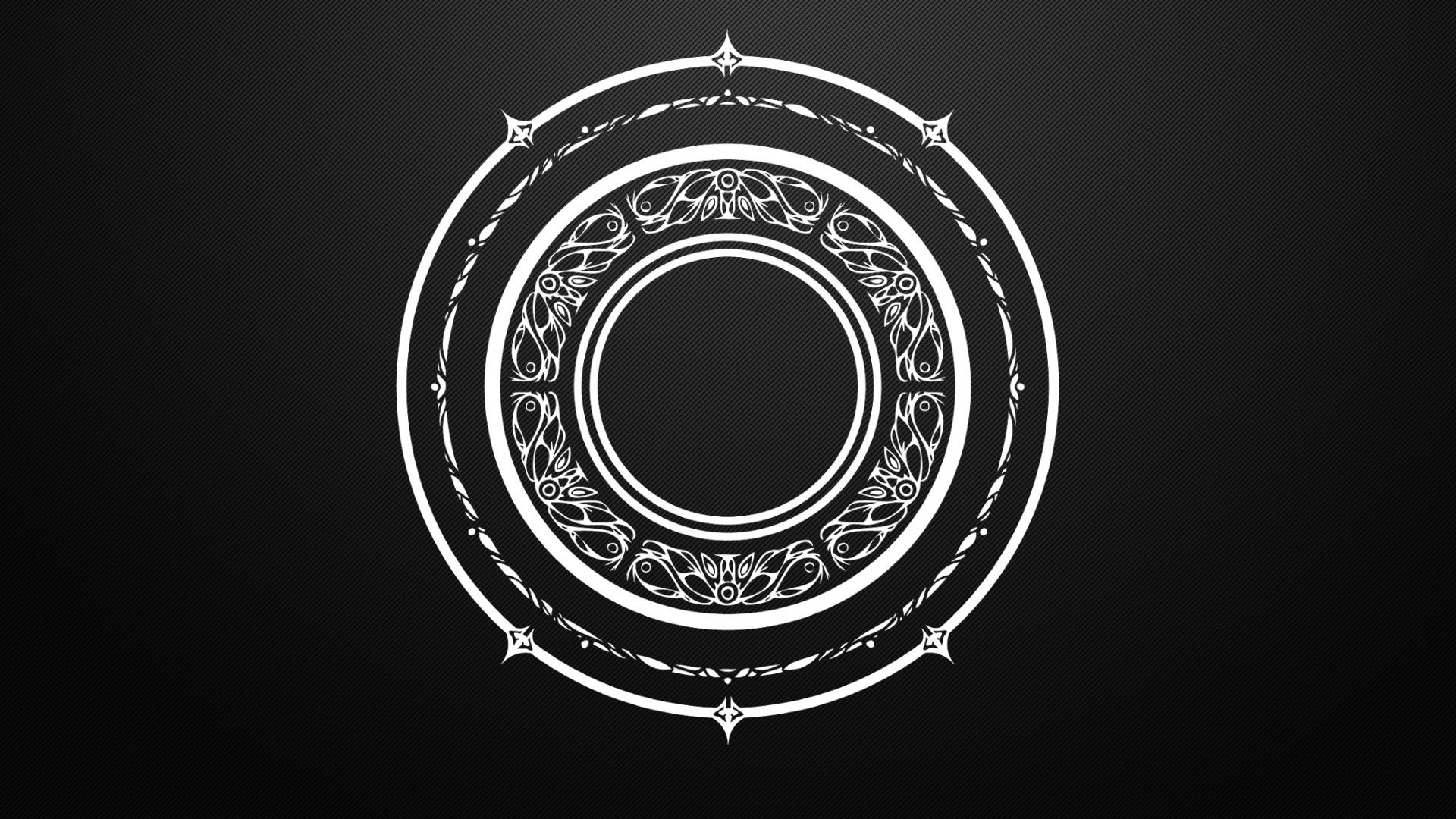 Arcane Black And White Circles Magic Mandala Tera Online