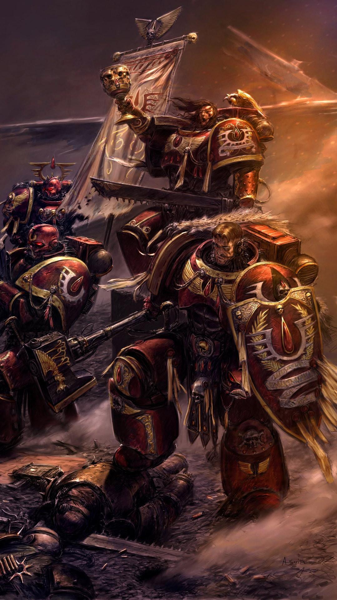 … Blood Angels – Warhammer 40,000 Game mobile wallpaper